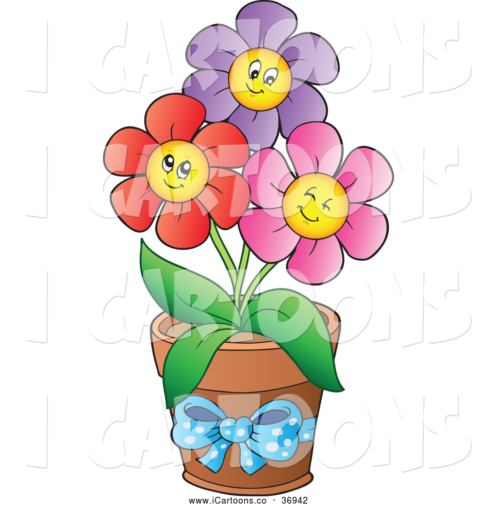 16 flower cartoon vector clip art images free clip art flowers cartoon daisy flower pot clip art izmirmasajfo Gallery