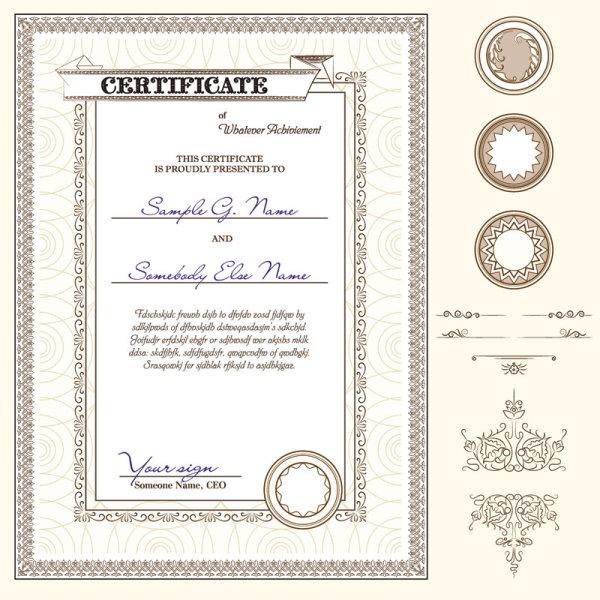 Certificate Border Design Template  Free Download Certificate Borders