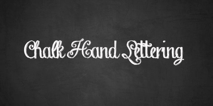 Chalk Hand Lettering Shaded Font