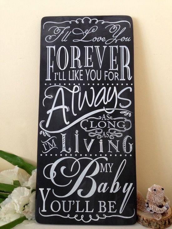 Chalkboard I Love You Forever