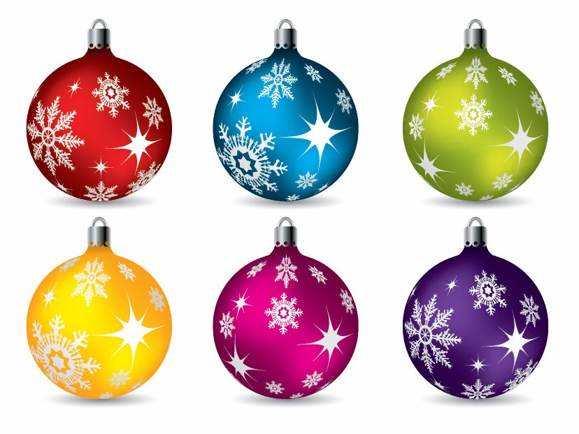 9 Christmas Ball Vector Images