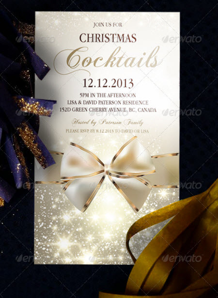 Christmas Invitation Flyer Templates Free Download