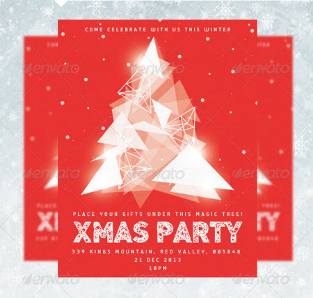 14 Invitation Templates PSD Holiday Lights Images