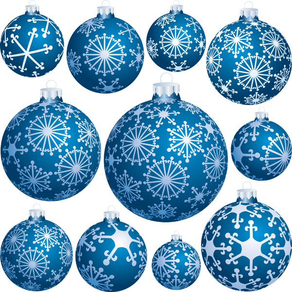 Christmas Tree Balls Vector