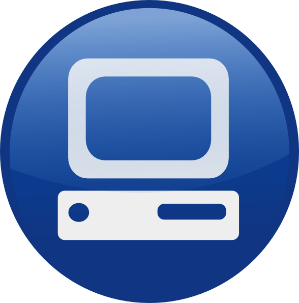 10 Blue Computer Icon Images