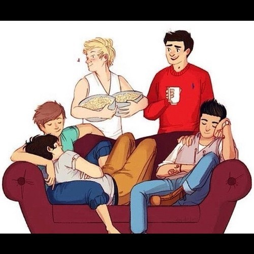 Cute One Direction Cartoon Drawings