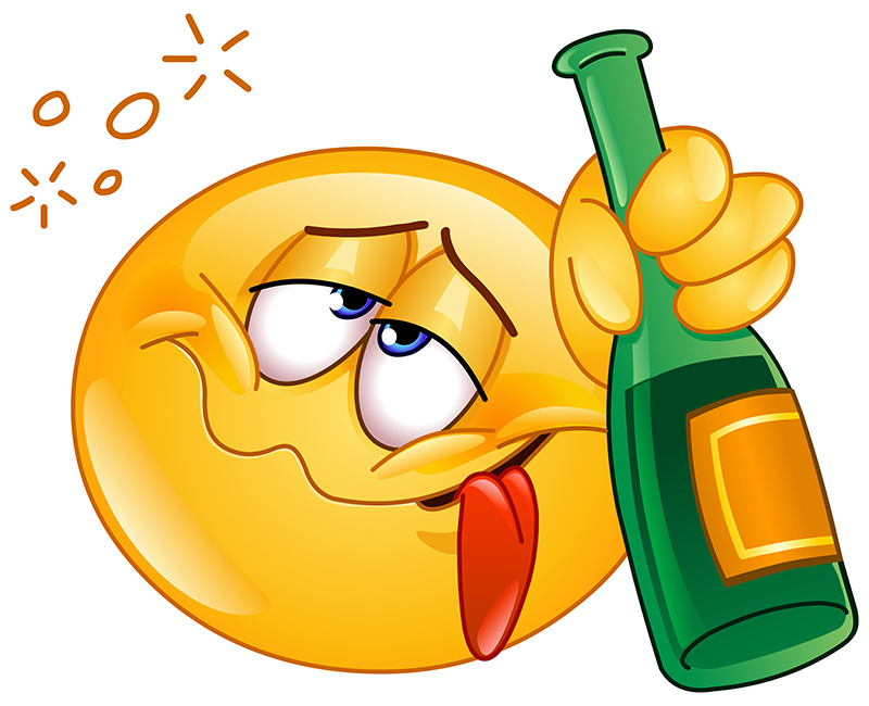 10 Funny Emoticons With A Drink Images