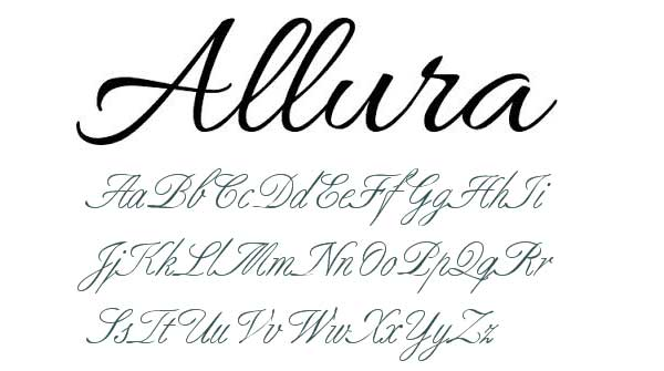 elegant fonts alphabet - photo #33