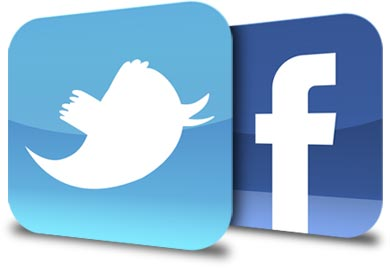 15 Twitter And Facebook Icons Images