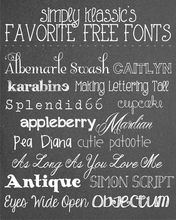 Favorite Free Fonts
