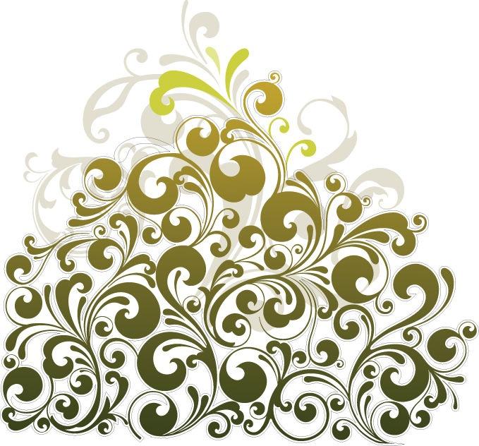 Floral Design Vector Art