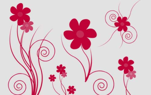 13 Floral PSD Brushes Images