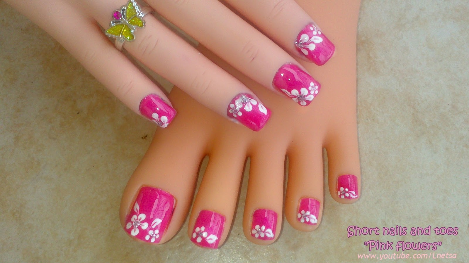 16 Flower Toe Nail Designs Images