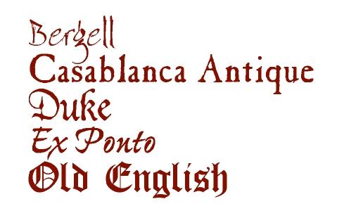 10 Old World Font Images