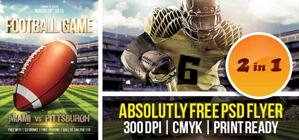 12 Football Game Flyers Template PSD Images