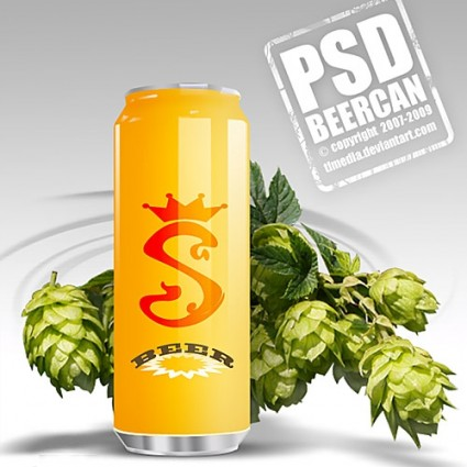16 Beer Cans PSD Images