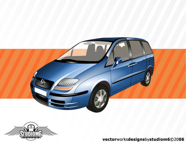 Free Blue Vector Car