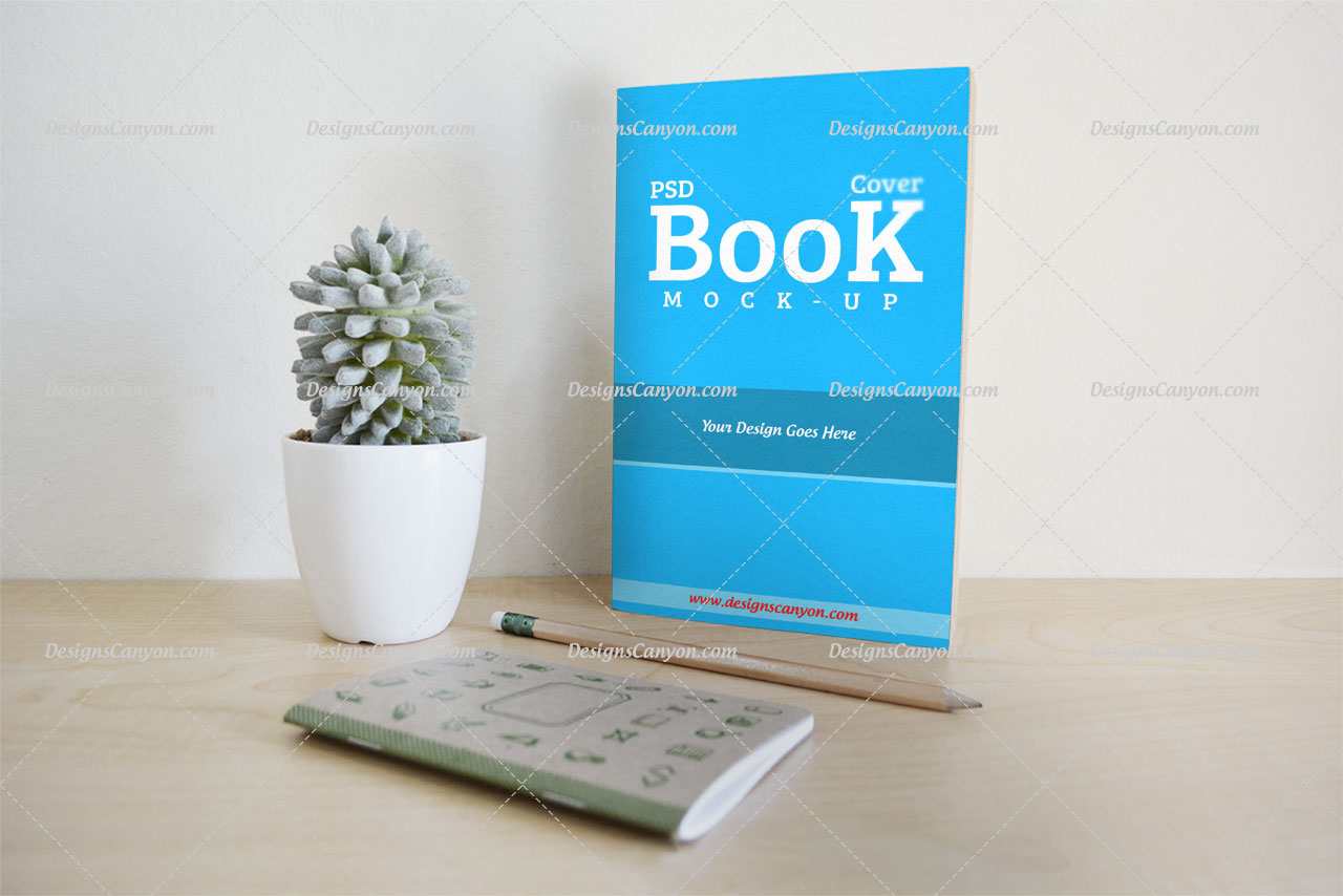 Free Book Cover Mock Up Psd