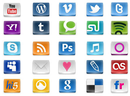14 Free Social Icons For Websites Images