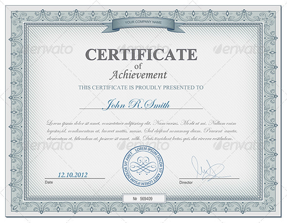 10 Free Certificate Border PSD Images - Blue Certificate ...