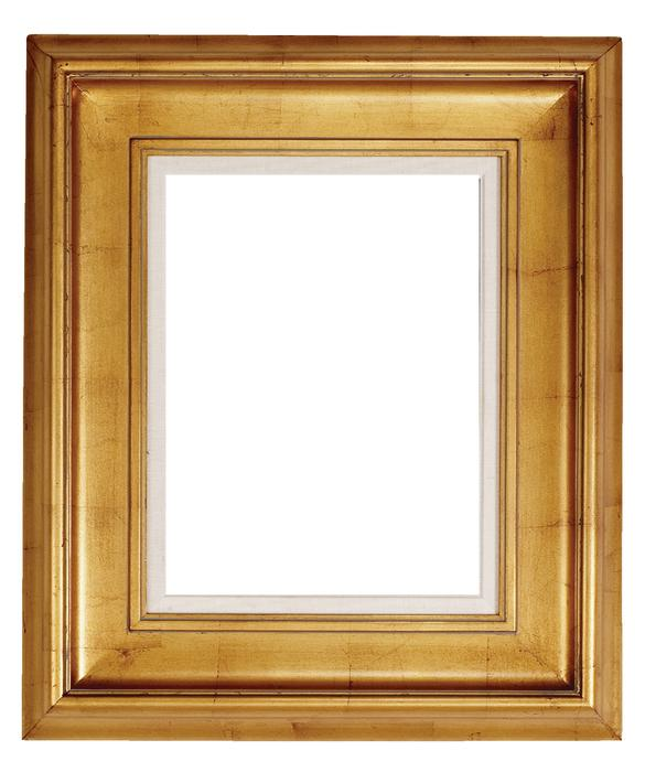 Gold Wood Picture Frame Vector