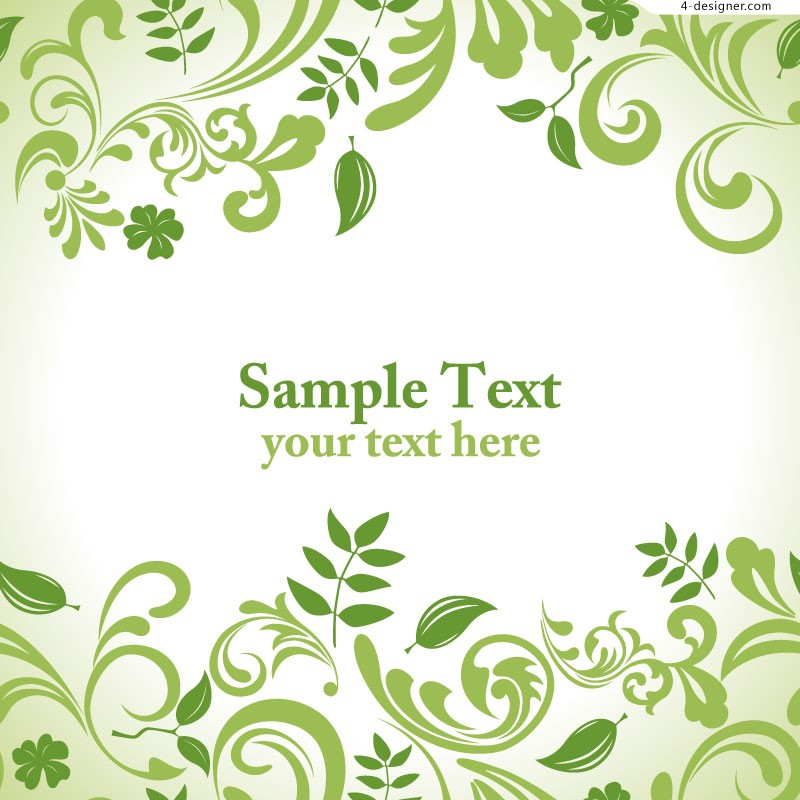 Green Leaf Background Patterns