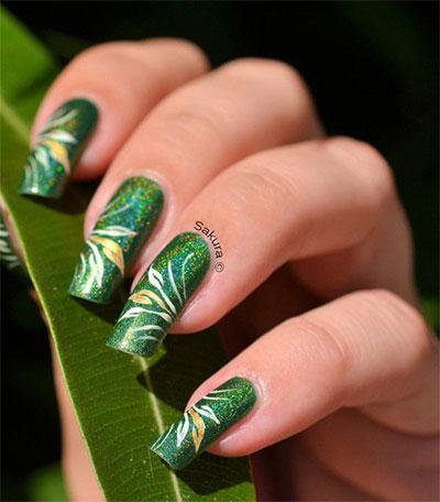 Green Nail Art Designs Ideas