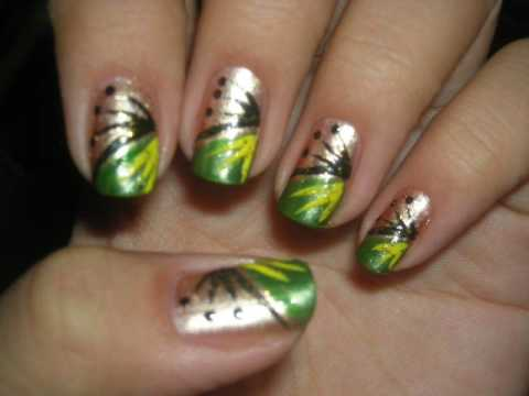 14 Red Green Yellow -Orange Nail Designs Images