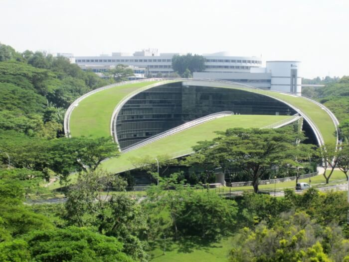 Green Roof Art School in Singapore