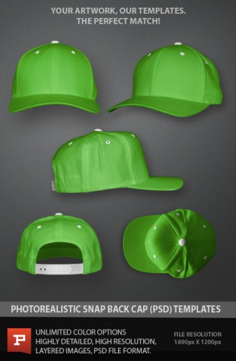 13 Mesh Trucker Hat Template PSD Images