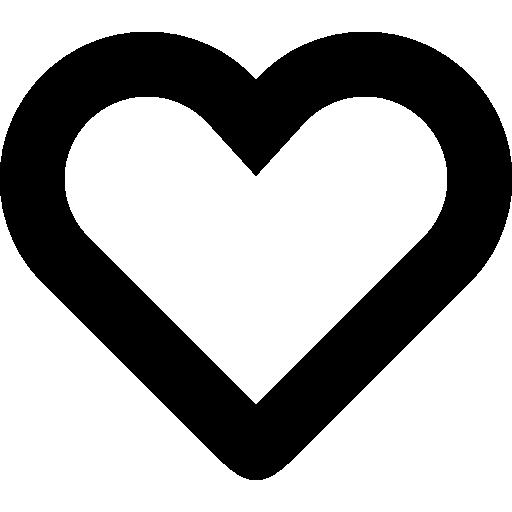 Heart Shape Outline Vector