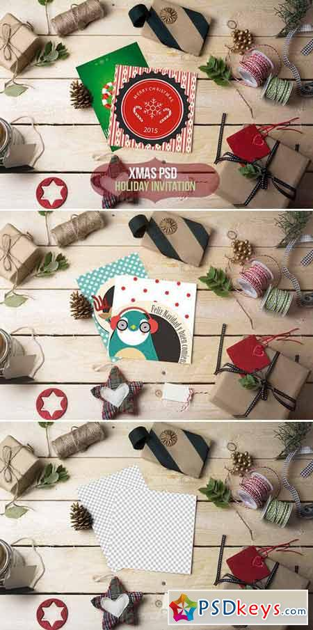 Holiday Invitation Template PSD