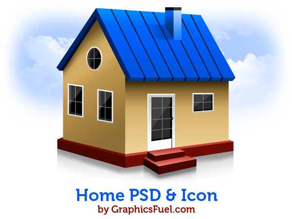8 PSD House Icons Images