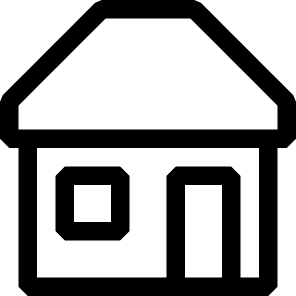 7 Black And White Building Icon Images