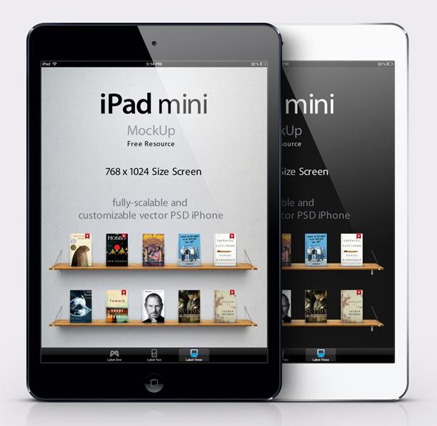 14 IPad Mini PSD Mockup Images