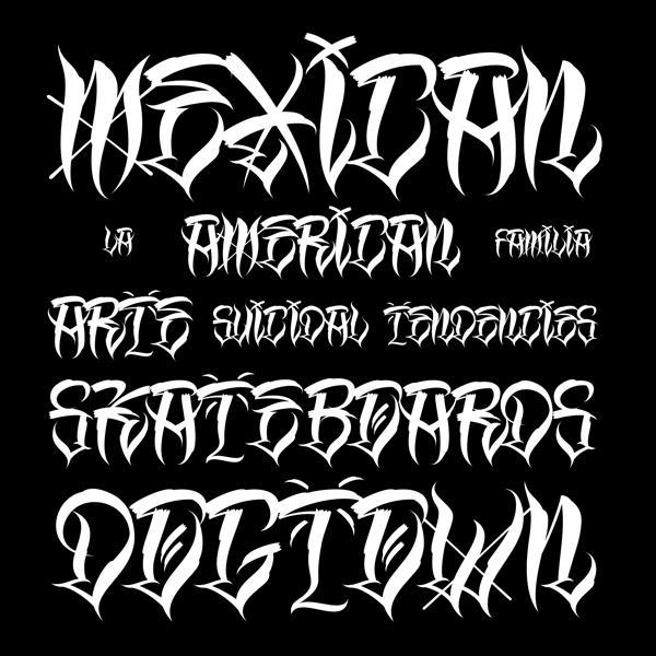 9 Gangster Font Alphabet Images