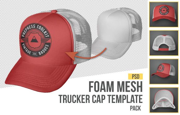 Mesh Trucker Hat Template