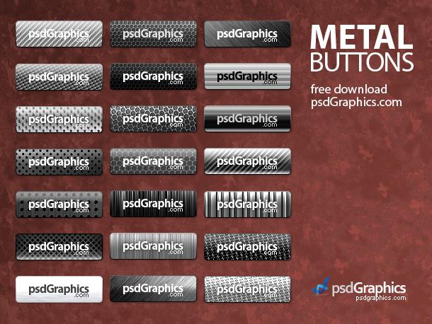 Metal Button Photoshop