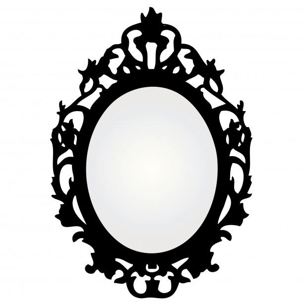 Mirror Black Frame Clip Art