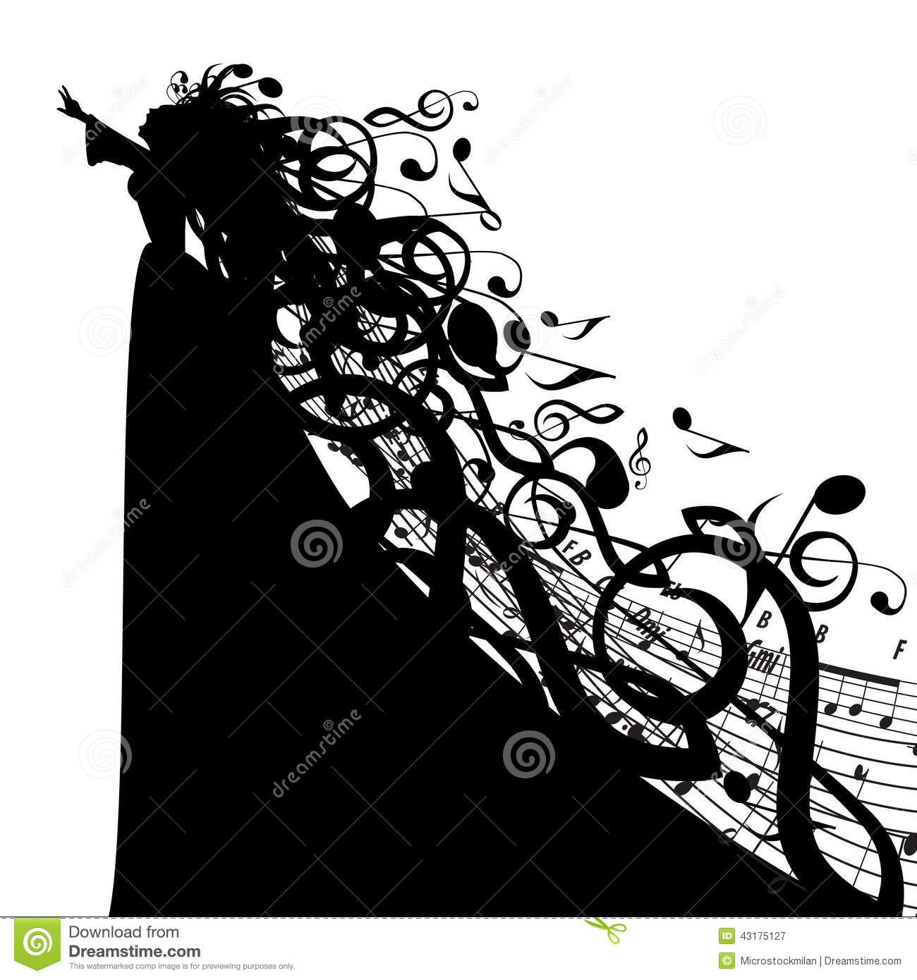Music Symbol Silhouette Vector