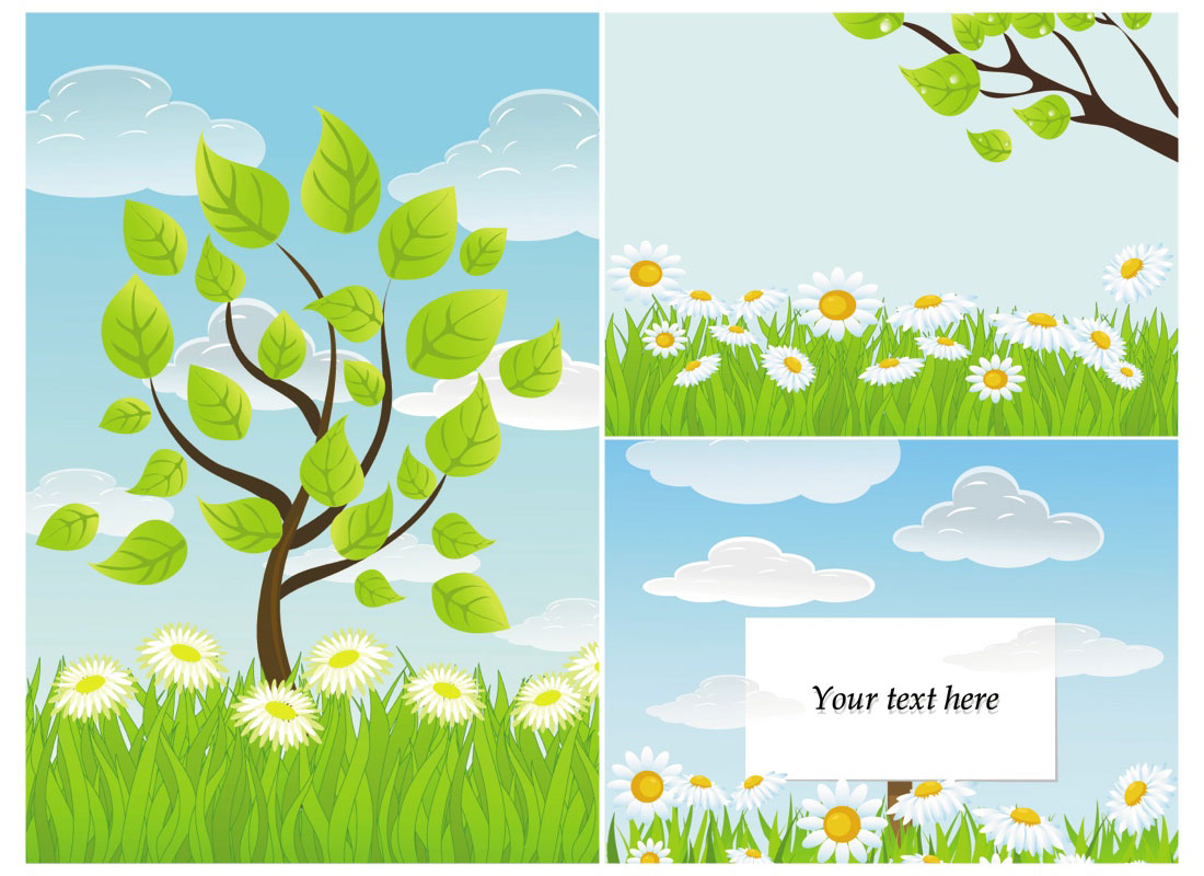 13 Summer Nature Tree Vector Images