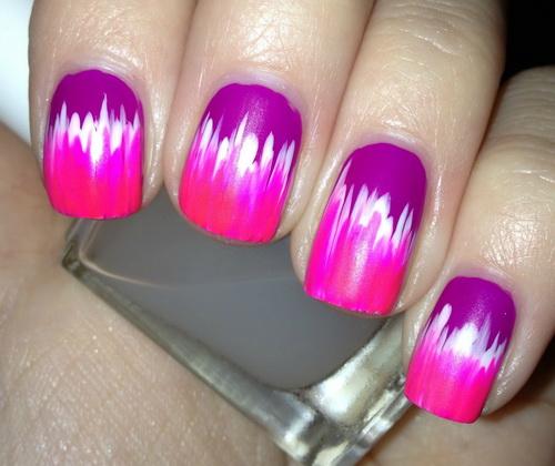 Neon Color Nail Design