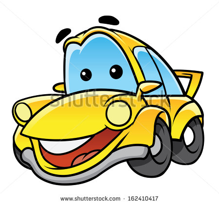 New Car Cartoon Illustration