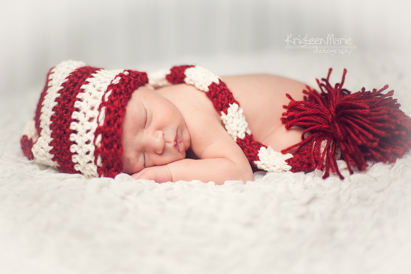 Newborn Baby Boy Christmas Photography