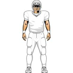 NFL Football Player Vector