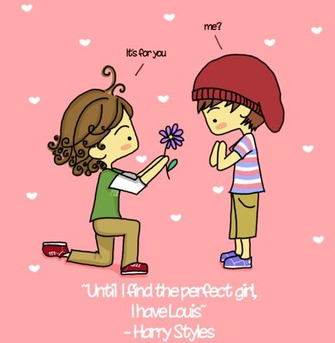 One Direction Larry Stylinson Cartoon