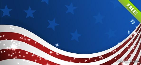 Patriotic American Flag Logo