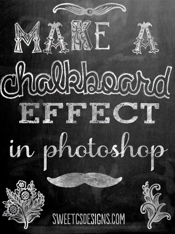 Photoshop Chalkboard Effect