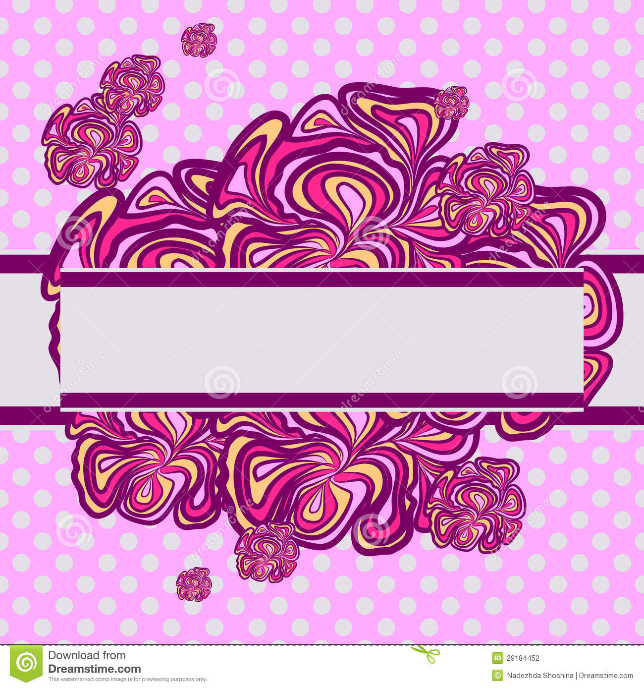 Pink and Purple Abstract Design