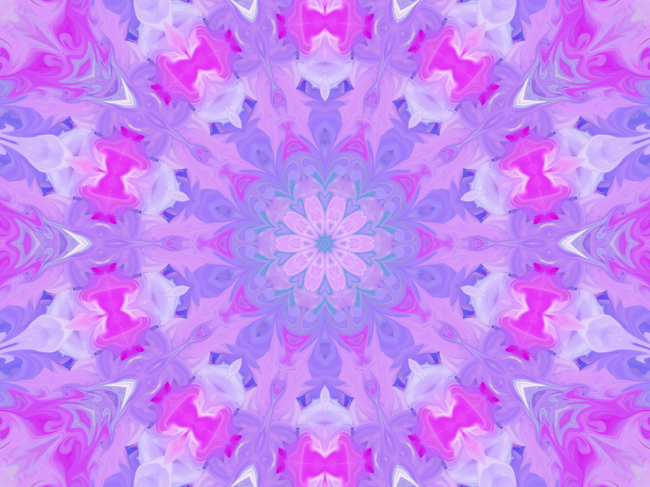 Pink and Purple Flower Design